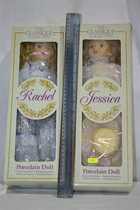 porcelain doll boxes classique collection porcelain doll x 2
