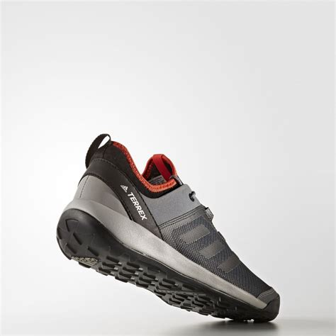 adidas terrex mens grey black outdoors walking hiking shoes ebay