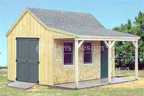 12 X 16 Cottage Cabin Shed With Porch Plans 81216 Ebay Building Plans For Shed With Porch