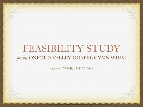 feasibility study template for construction project ovc building project feasibility study presentation