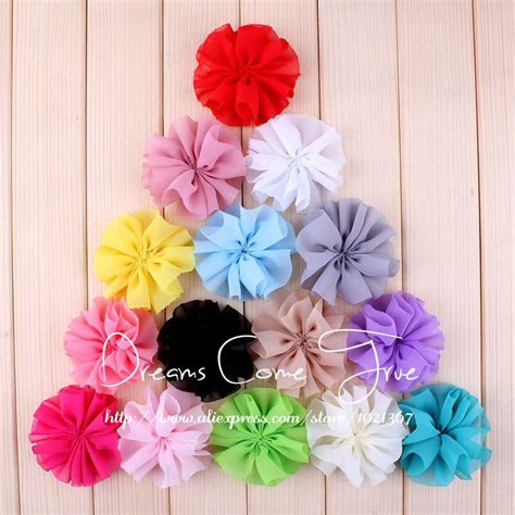 Handmade Fabric Flowers For Sale - aliexpress buy 200pcs lot 6 5cm 15 colors newborn