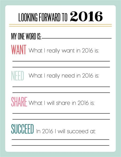 new year 2016 student worksheets 20 easy new year ideas tip junkie