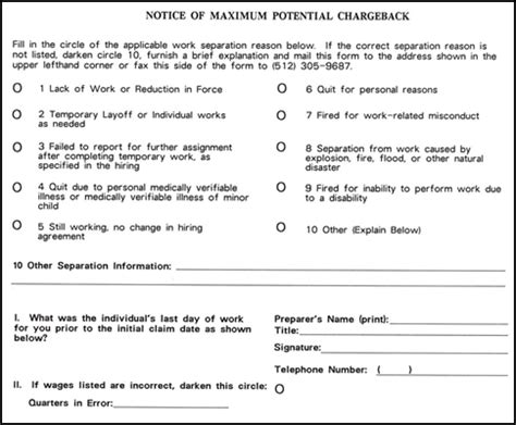 Unemployment Insurance Determination Letter Kansas Employer Unemployment Benefit Chargebacks Twc