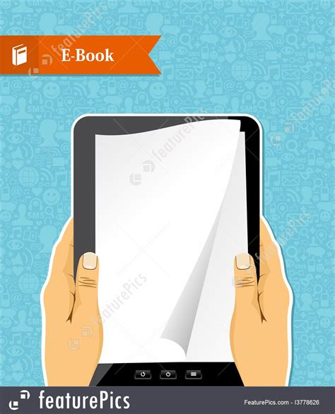superconnected the digital media and techno social books holds an electronic book stock illustration i3778626