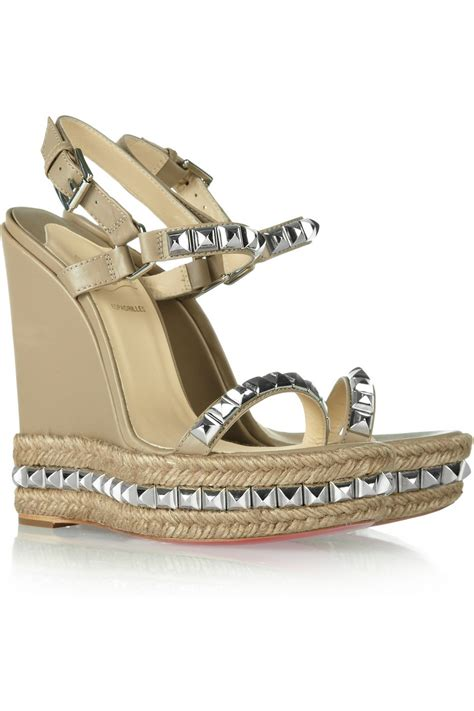 christian louboutin sandals christian louboutin cataclou 140 studded leather wedge