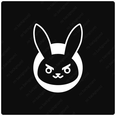 Bunny Ibon Black d va bunny symbol icon spray decals stickers overwatch