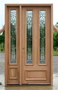 Solid mahogany door exterior wood door with 1 sidelight