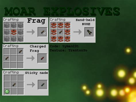 How Do You Make Paper In Minecraft Pc - 1 8 1 moar explosives make things go boom minecraft mod