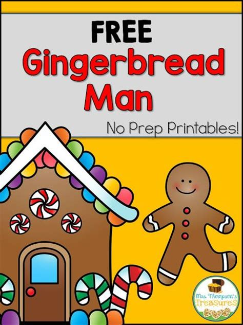 preschool gingerbread man printable book 1000 images about gingerbread theme on pinterest