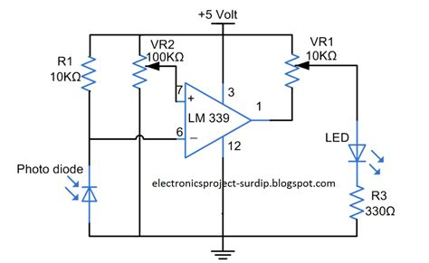 photodiode light detector circuit electronics projects light sensor photodiode