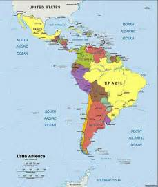 map of central and south america with capitals map of central and south america with capitals in