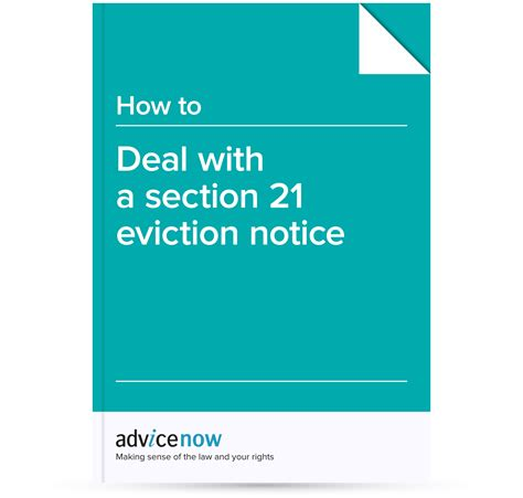 section 21 notice how to deal with a section 21 eviction notice advicenow