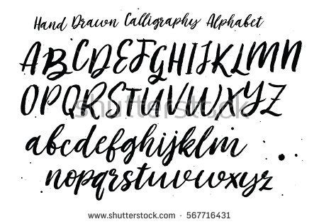 design font uppercase modern calligraphy alphabet stock images royalty free