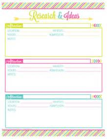 vacation planning printable pack organizing homelife
