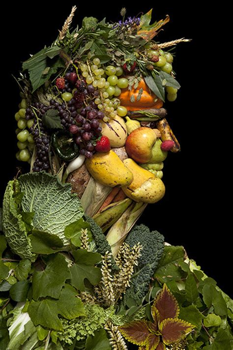 creative portraits   fruits vegetables flowers