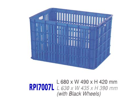 Keranjang Rabbit kontainer industri jumbo rabbit rpi7007l krat plastik industri