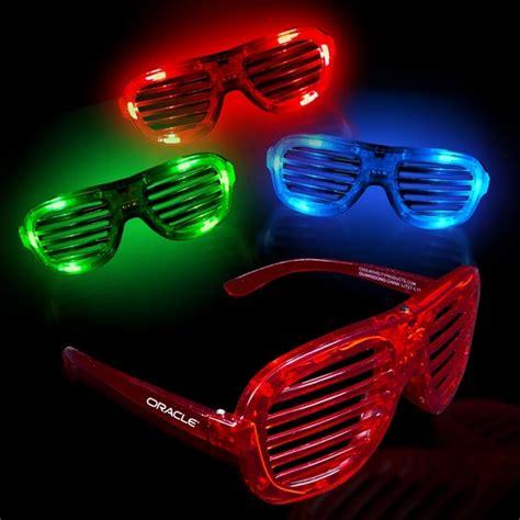 promotional light up led slotted glasses customized