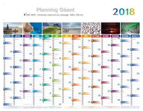 Planning 2018 Excel Calendrier Publicitaire Planning 2018 Maxi Planning