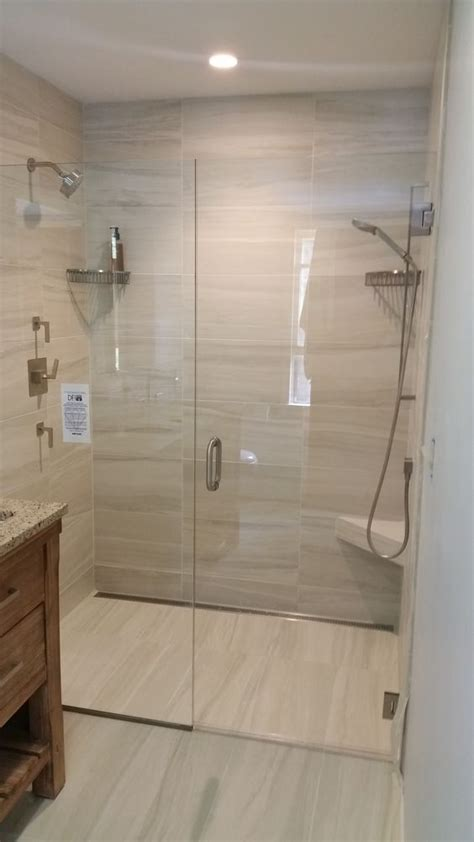 curbless bathroom showers shower installation floors and showers on