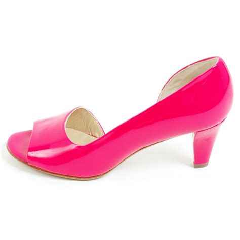kaiser jamala open toe smart sandals neon pink