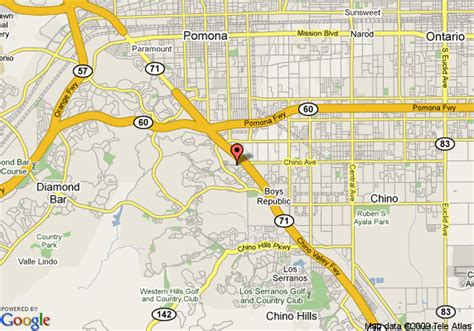 where is chino california on the map map of hton inn suites chino ca chino
