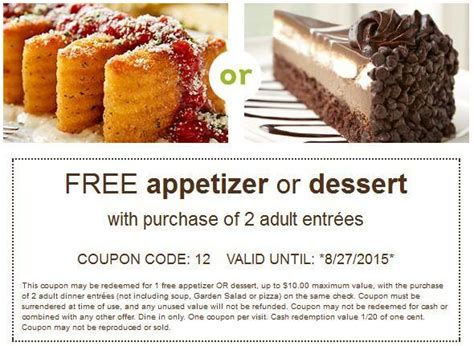 printable olive garden coupons august 2015 olive garden printable coupons free appetizer or dessert