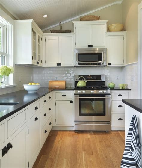 l shaped kitchen design featured great white cabinet color