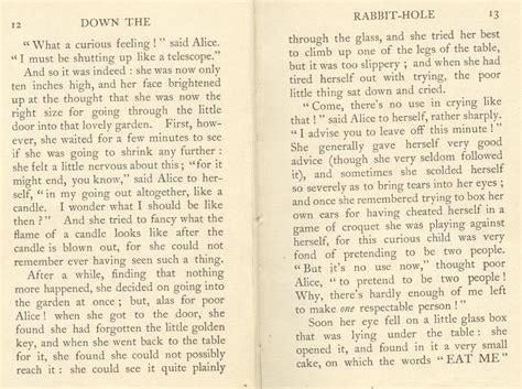 alice in wonderland book pages wesharepics alice s adventures in wonderland facsimile of 1922