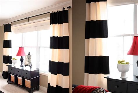 black cream striped curtains magnificent pottery barn curtains decorating ideas for