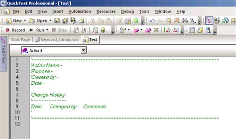 What Is Action Template In Qtp Automation Repository Xx Automation Test Plan Template For Qtp