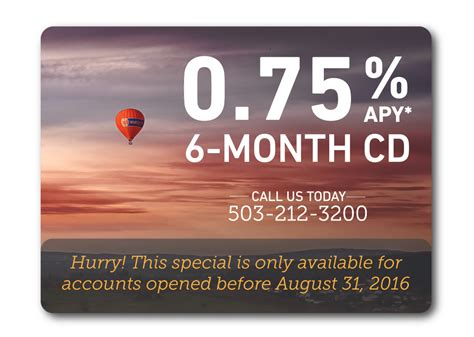 cd at bank cd rate special lewis and clark bank 0 75 6 month cd