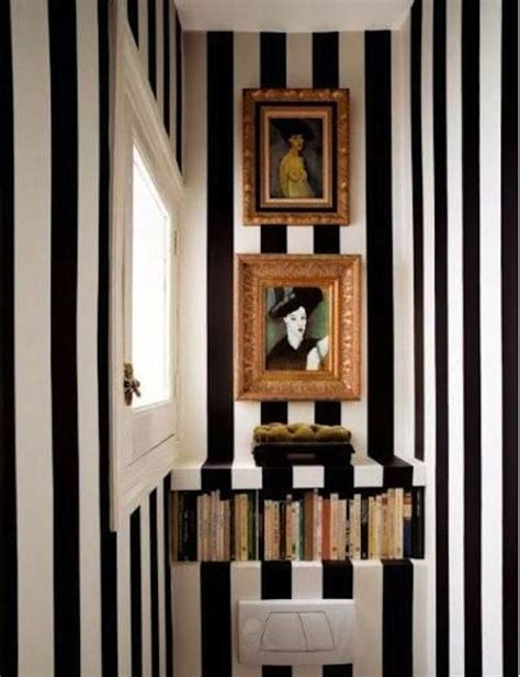 striped bathrooms black and white striped bathroom did this in my biggest