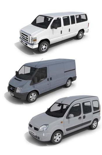model commercial vehicles three commercial vehicles 3d model 3d model download free