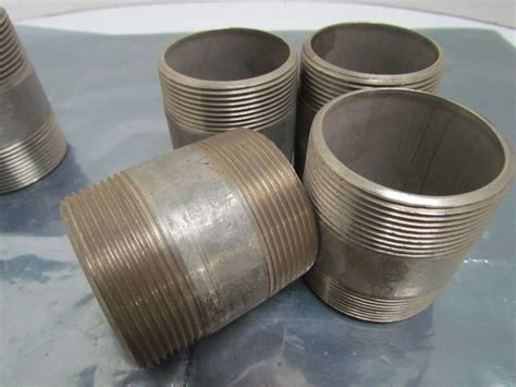 1 5 sch 40 steel pipe lot of 5 2 quot npt stainless steel 316 ss sch 40 pipe nippls 4
