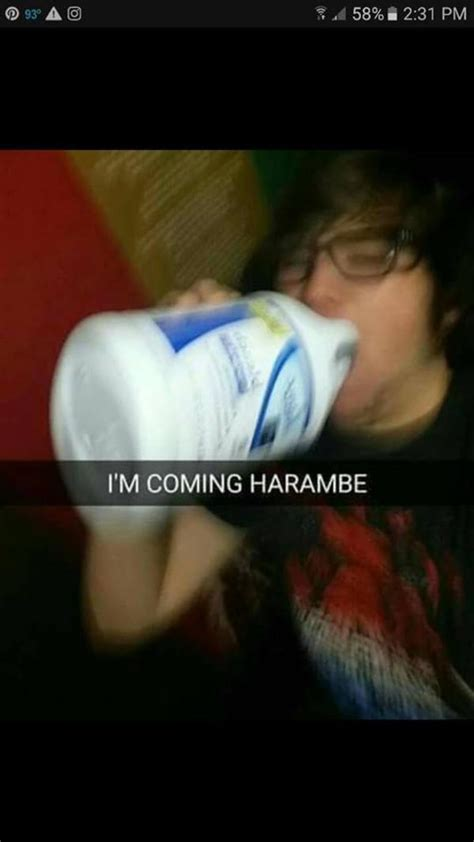 Drink Bleach Meme - i m coming harambe bleach drinking know your meme