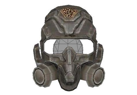 Papercraft Gas Mask - faction edf grunt anti gas mask free papercraft