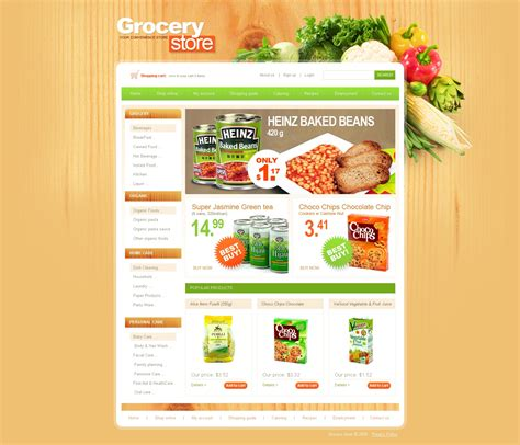 Grocery Store Website Template 25384 Free Grocery Website Templates