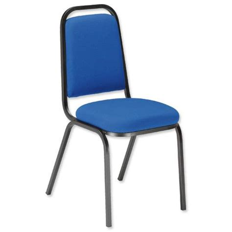 Ready Assembled Office Chairs Trexus Visitor Chair Stackable Pre Assembled Fabric Blue