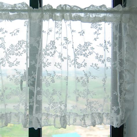 lace kitchen window curtain bathroom curtain