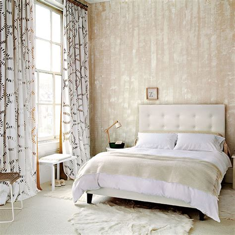 fur wallpaper for bedrooms neutral bedroom design ideas decorating ideal home