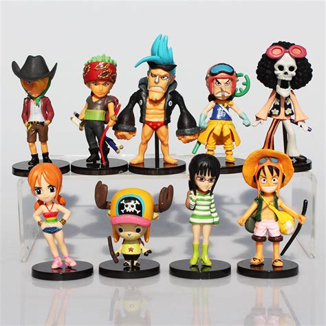 1 Set Sanji Yonji Barto Figure 9pcs set one figure luffy roronoa zoro sanji chopper robin brook nami figures