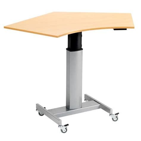 mobile height adjustable computer desk aj products