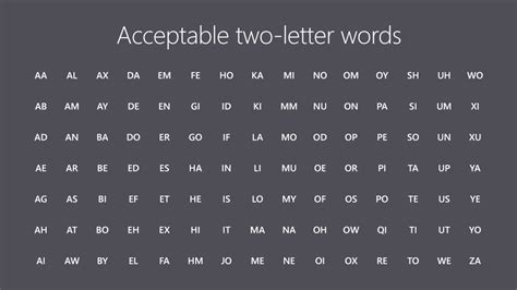 official two letter scrabble words scrabble 2 letter word list valid scrabble words