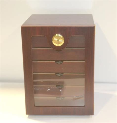 7 Drawer Humidor by Thompson Lucky 7 Multi Drawer Cigar Humidor Cherry Cabinet