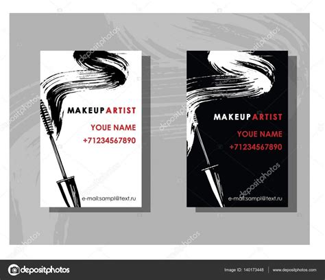 artist business cards elegant makeup artist business card