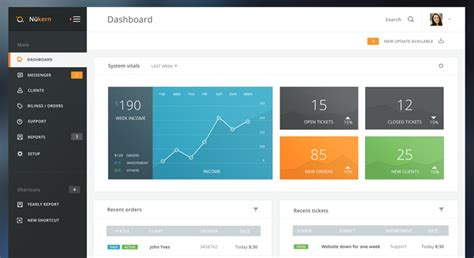 html nice layout 6 best flat dashboard web designs free dashboard templates