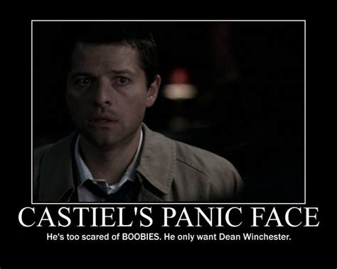 Supernatural Castiel Memes - supernatural dean castiel quotes