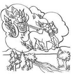 Coloring Page Elijah Chariot Of Fire sketch template