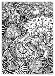 doodle designs to color patterns coloring pages beautiful