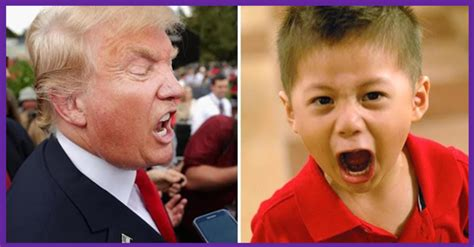 donald trump with kid who said it donald trump or a petulant child trump or